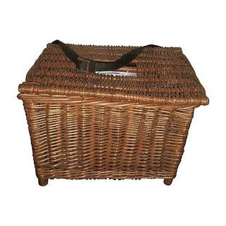 English Wicker Fish Basket