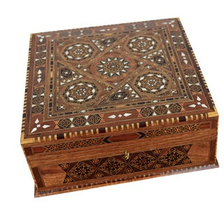 Wood Inlay Jewelry Box