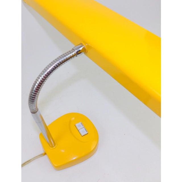 Antique Marigold Yellow Goose Neck Tanker Desk Lamp - Image 4 of 7