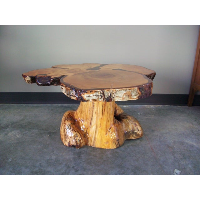 Live Edge Burlwood Tree Trunk Coffee Table Chairish