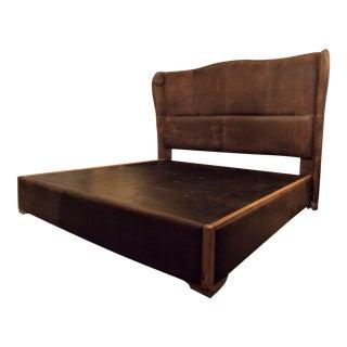 Dax King Size Leather Platform Bedframe by Taracea