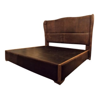 Dax King Size Leather Platform Bedframe by Taracea