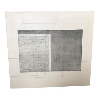 Vintage Geometric Stretched Canvas Drawing