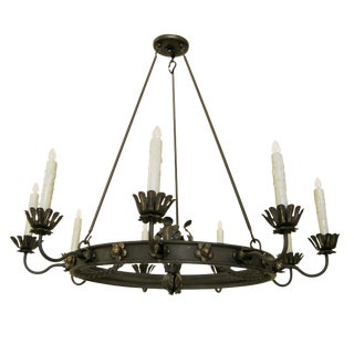 Randy Esada Designs Casablanca Moroccan Wrought Iron Chandelier