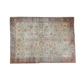 """Distressed Antique Mahal Carpet - 8'6"""" x 11'8"""""""