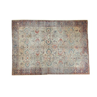 "Distressed Antique Mahal Carpet - 8'6"" x 11'8"""