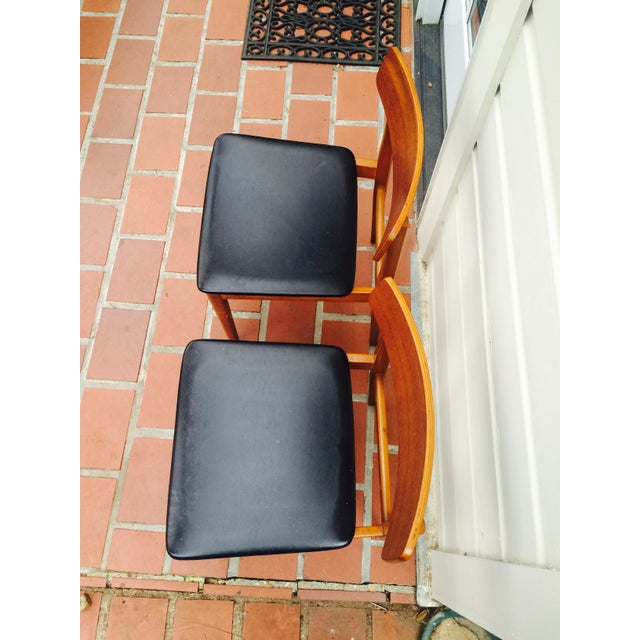 Mid-Century Modern Dining Chairs- A Pair - Image 3 of 6