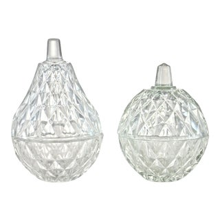Apple & Pear Glass Boxes - A Pair