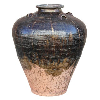 19th-Century Martaban Glazed Pot