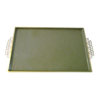 Kyes Moiré Large Avocado Green Tray
