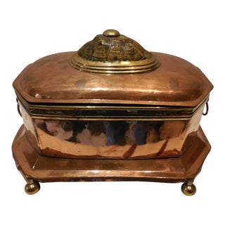 19th Century Copper Casket
