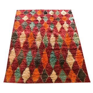 "Moroccan Diamond Multicolored Rug - 69"" x 98"""