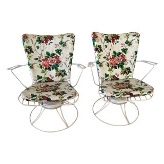 Mid Century Homecrest Wire Patio Chairs - Set of 3