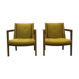 Dunbar Open Frame Lounge Chair - Pair