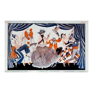 "George Pavis 1926 ""Carnival Harlequin"" Le Sourire Print"