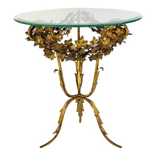 Italian Gold Gilt Side Table