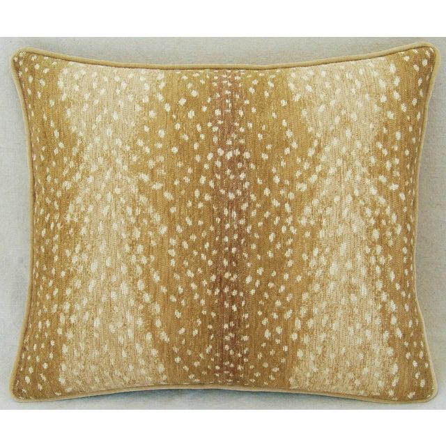 Antelope Fawn Spot Velvet Pillows- a Pair - Image 3 of 10