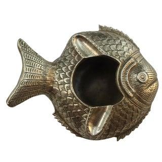 Vintage Brass Fish Ashtray
