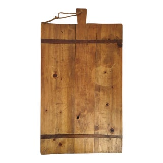 Antique French Pine Wood Cutting Board