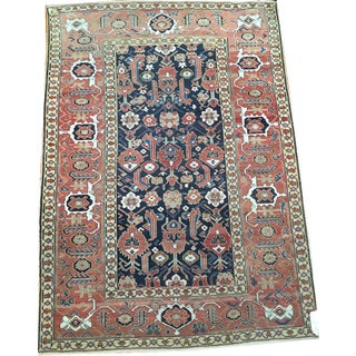 Antique Caucasian Kuba Area Rug - 3′9″ × 5′7″