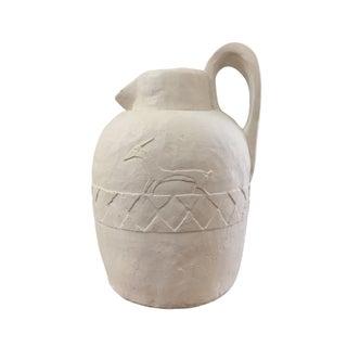 Large Cream Clay Vase