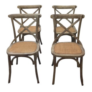 X-Back Elm Dining Chairs - Set of 4