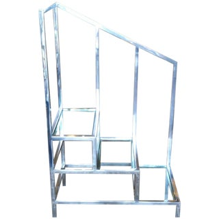 Chromed Steel Library Ladder