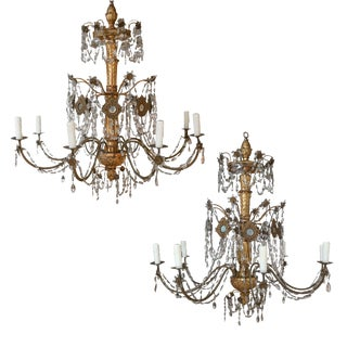 Pair of 18th Century Chandeliers from Genoa