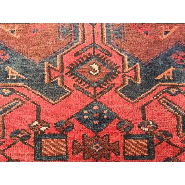 "Vintage Persian Zanjan Area Rug - 3'4""x4'6"" - Image 5 of 8"