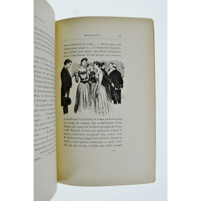 "Image of 1896 ""Mensonges"" Illustrated Book By Paul Bourget"