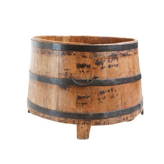 Old Teak & Iron Barrel