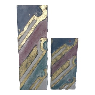 Moderist Wood Art Pieces - A Pair