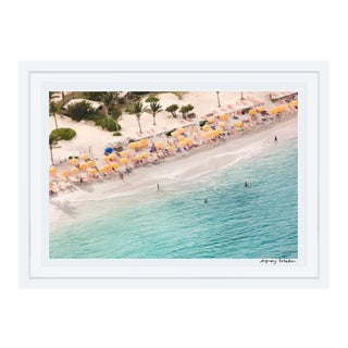 "Gray Malin Large Limited Edition ""St. Maarten Nude Beach"" (à La Plage) Signed Framed Print"