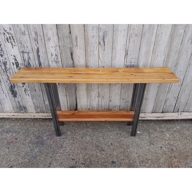 Reclaimed Wood Console Table - Image 2 of 6
