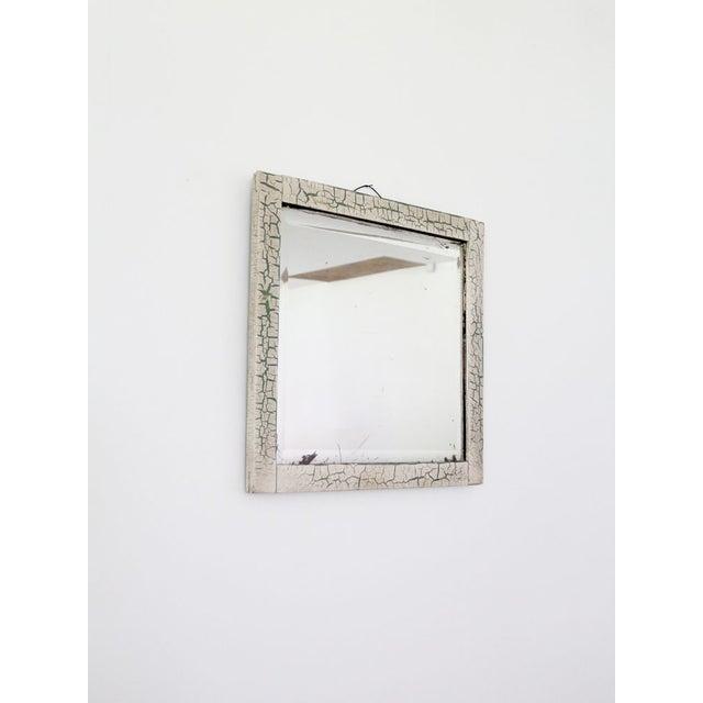 Antique Crackle Finish Beveled Mirror   Chairish