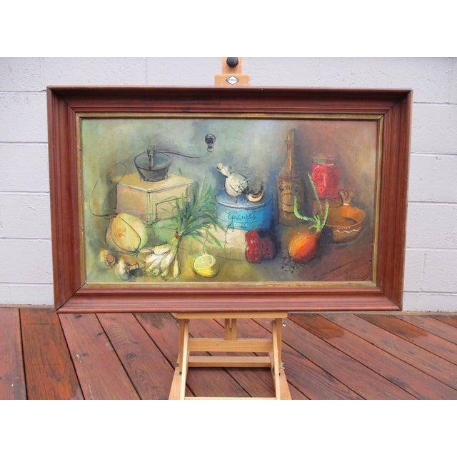 Modernist Abstract Ardoth Terrill Hughes Still Life Painting - Image 2 of 9
