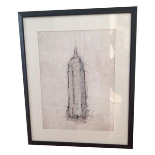 Black & White Sketch Of Empire State Building