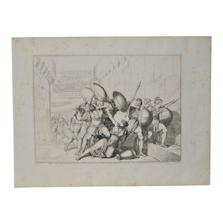 "Bartolomeo Pinelli Engraving ""Killed in Betrayal"" c. 1818"