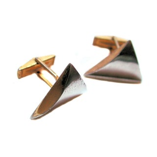 Modernist 50s Artisan Steel Cufflinks