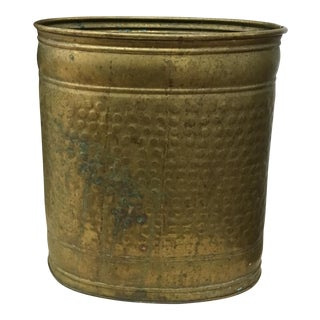 Wastepaper Basket - Hammered Brass