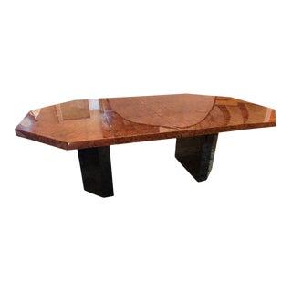Mid-Century Milo Baughman For Thayer Coggin Burl Walnut Octagonal Dining Table