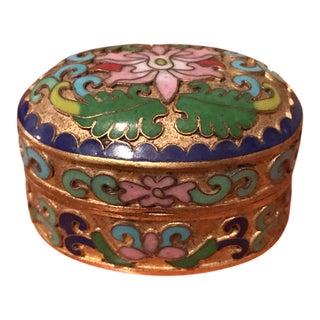 Vintage Asian Cloisonné Enamel Box