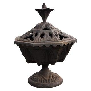 Antique Victorian Gothic Cast Iron Flame Brasier