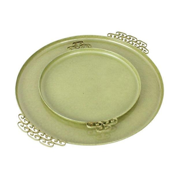 Green Kyes Pasadena Round Trays - Pair - Image 2 of 5
