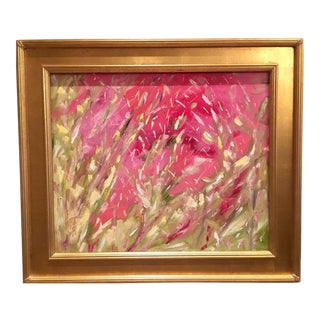 """Abstract Pinks & Golds"" Original Oil Painting"