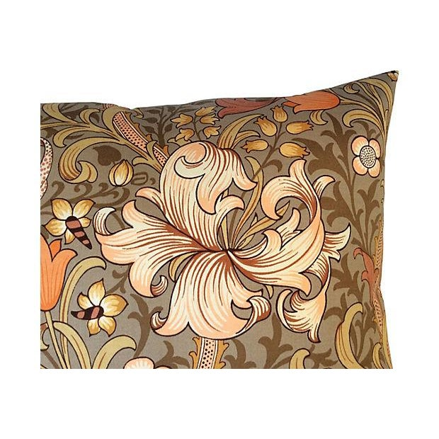William Morris English Golden Lily Textile Pillow - Image 2 of 4