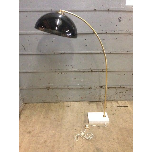 Mid-Century Modern Marble & Brass Arc Lamp - Image 3 of 6