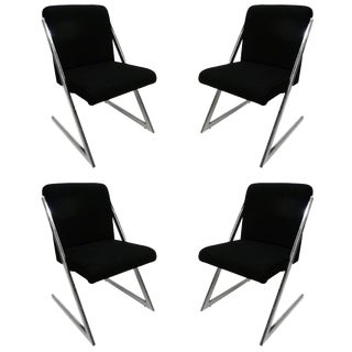 "Milo Baughman Style ""Z"" Chairs - Set Of 4"