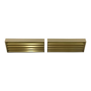 Lightolier Louvered Wall Sconces - a Pair