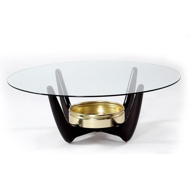 Restored Mid-Century Coffee Table With Planter - Image 2 of 7